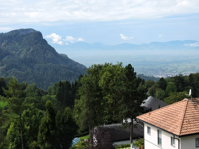 Stunning view from Edi's house over the city of Dornbirn F4:
